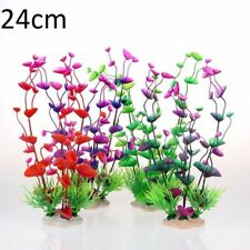 Fish Tank Decorative Plastic Plant Aquarium Grass Silk Bush Water Green Weed DIY