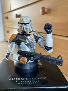 Star Wars Airborne Trooper clone Bust Gentle Giant Statue - UK ONLY not hot toys