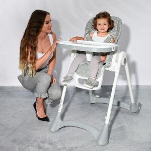Lorelli Campanella Baby High Chair Toddler Feeding Seat Adjustable Tray Portable
