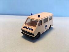 Praline Fiat 242 Ambulance White 1/87 Scale Plastic Car