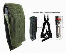 For Gerber MP800, MP600 Folding Knife,Flashlight Adjustable Pouch Sheath A GREEN