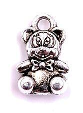 Oso Teddy con Lazo Colgante Amuleto Colgante de Collar Suministros de Artesanía
