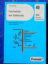 Elektronik  Fachwörter  ab 5 Bücher Versand kostenlos