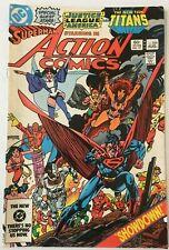 ACTION COMICS. NO.546. VINTAGE 1983  DC COMICS. FN- COND . 5.5. TEEN TITANS APP