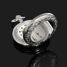 Arabische Ziffern Silber Skelettuhr Herren Uhr Automatische Taschenuhren