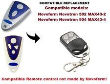 Novoferm Novotron 502 MAX43-2, 504 MAX43-4 Compatible remote ontrol 433.92MHz.