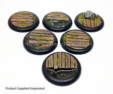 40mm Round Lipped Bayou Boardwalk Resin Bases - Warmachine Malifaux Water Effect