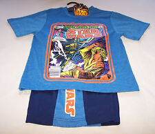 Star Wars Boys Blue Comic Printed Pyjama Set Size 6 New