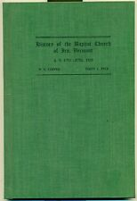 1925 History of the Baptist Church Ira, Vermont w/ list of members