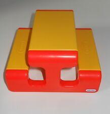Vintage Little Tikes SMALL Dollhouse Sized Playground Picnic Table Yellow Orange