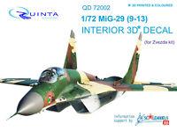 2 pcs Quinta studio/'s QC7003 1//72 SU-57 vacuformed canopy for  7319 Zvezda kit
