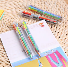 6 Colors Ink In 1 Ballpoint Pen Stationery Creative Gift School Supplies