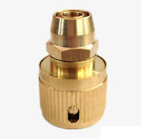 2X Brass 3/8 Inch Quick Connect Garden Hose Connector Adapter Water Tap Fitting