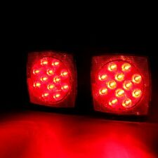 """Hot Sale!!Pair LED Square Lights Trailer Under 80"""" Tail Stop Brake Without Wire"""