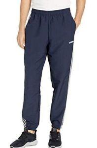 adidas Essentials Men's 3-Stripes Wind Pants (Legend Ink/White, Medium DU0453