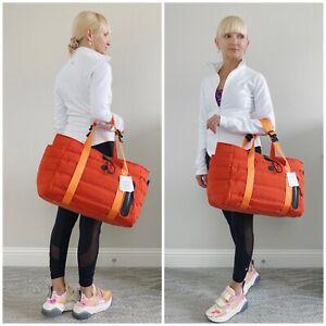 NWT Lululemon Dash All Day Duffel Gym Yoga Bag Brick Orange