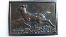 ANTOINE LOUIS BARYE BRONZE SCULPTURE RUNNING DEER PLAQUE