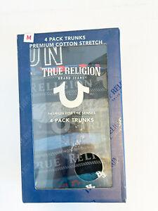 New Men's True Religion 4 Pack Boxer Short Size S , M , L