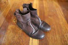 Bonpoint brown leather pull on boots size 31 12 12.5 1 made in Italy