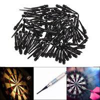 100Pcs Soft Nylon Tips Points Replacement Set For Electronic Dart Black White