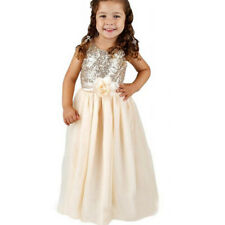 Kids Baby Girls Sequins Flower Bowknot Tulle Dress Princess Wedding Bridesmaid