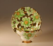 Trimont China Handpainted Gilded Floral Cup and Saucer, Occupied Japan