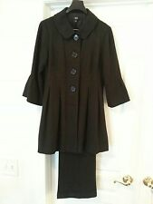 AGB Grey Pant Suit with fluted sleeves Size 6 fits like Size 8