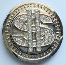 boucle ceinture rétro à coudre dollars couleur argent cristaux diamant mobile A0