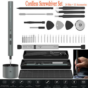 iFU Cordless Precision Lithium Rechargeable Electric Screwdriver Repair Tool Set