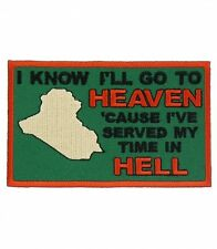 I'll Go To Heaven Green Iraq Patch, Military Veteran Patches