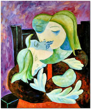 Mother and Son - Hand Painted Pablo Picasso Cubist Oil Painting On Canvas Repro
