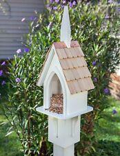 "Bird Feeders - ""Village Church"" Bird Feeder - Garden Decor"