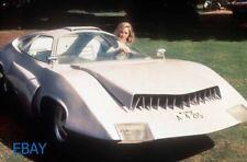 UFO white sports car RARE 35mm slide
