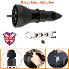 Rivet Gun Adaptor for Cordless Drill Electric Nut Riveting Riveter Insert Tool Y