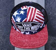 Vans Flag Usa Mens Skate Co. Black/Red Snapback Hat