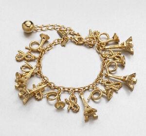 Kate Spade New York Bracelet Parisian Lights Charms Gold NEW $88
