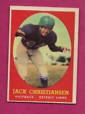 1958 TOPPS # 70 LIONS JACK CHRISTIANSEN  EX-MT CARD (INV# A6060)
