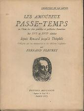Fernand Fleuret.Les Amoureux Passe-Temps.Bois gravés de Sima.Poésies galantes