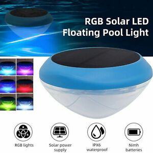 RGB Solar LED Floating Light Colorful Swimming Pool Pond Underwater Bright Lamps