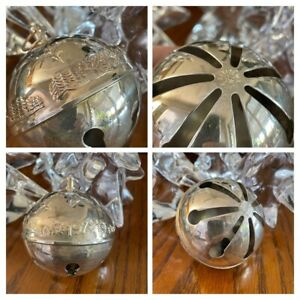 Vintage 1979 Wallace Silversmiths Christmas Sleigh Bell Hang Ornament 9th Annual