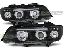 BMW X5 E53 1999 2000 2001 2002 2003 LPBM43 FARI ANTERIORI HALO RIMS NERO