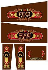 FIRE FIRE! Pinball Machine Cabinet Decals - NEXT GEN - LICENSED