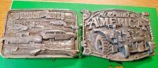 For America Tractor Pull & Demo De Bergamot Brass Works Belt Buckle We're Pullin