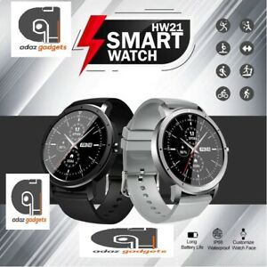2021 HD Round Smart Watch Sport Fitness Tracker Pedometer Heart Rate BP Monitor