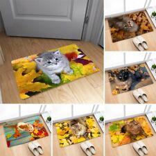 Cute Pets Cats Non-slip Door Floor Bath Mat Entrance Doormat Welcome Rug Carpet