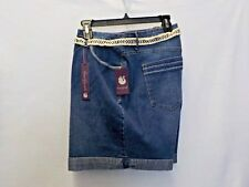 Women's Size 24W Gloria Vanderbilt Denim All-Around Slimming Belted Short #8119