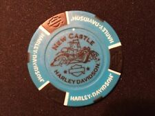 "Harley Golf Ball Marker Poker Chip  (BIKER Blue/Black) ""New Castle"" Pennsylvania"