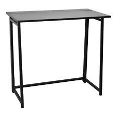 Klappschreibtisch für Laptop/PC - Holz - Schwarzes Gestell/Schwarze Tischplatte