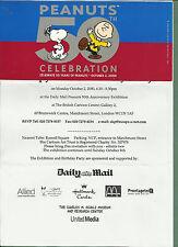OCT 2000 INVITATION CARD TO SNOOPY'S 50TH BIRTHDAY PARTY CARTOON ART TRUST