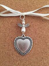 Ramo De Novia Charm Corazón Ángel Foto Marco de memoria Hecho a Mano Perlas de Swarovski